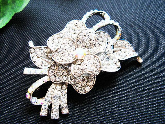 FLORAL CUTE ALLOY FACNY HANDMADE COMB BRIDE BROOCH WEDDING ACCESSORIES ATTIRE n