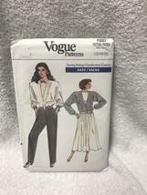 Vogue 7027 Misses Unlined Jacket Flared Skirt Pants Vintage Sewing Pattern - $12.86