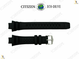 Citizen 59-G0247 Original Replacement Black Rubber Watch Band Strap - $71.58 CAD