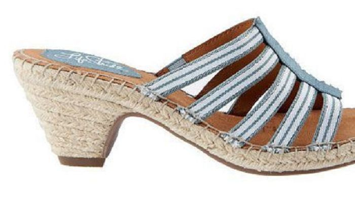 LifeStride Women's Multi-strap Espadrille Sandals - Route, Denim, Size 6.5 M