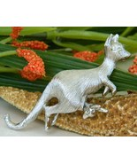 Napier Kangaroo Figural Pin Brooch Nodding Baby Joey Pouch - $17.95