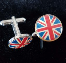 uk flag design Cufflinks cuff links in gift box the red white and blue  GB