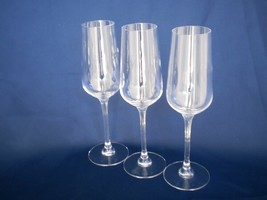 """Trio of 9"""" Crystal Champagne Glasses Set of Three Classic Flutes - $13.49"""
