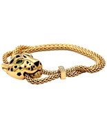 Cartier Panthere Head Mesh Chunky Chain Bracelet 18K Yellow Gold - $21,500.00
