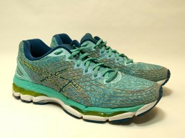 ASICS Gel Nimbus Running Cross Training Aqua Blue Shoes Womens Size 11 T... - $48.61