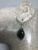 Vintage Black Onyx 925 Leverback Earrings - $51.48