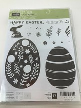 Stampin' Up Hello Easter Eggs Bunny #145783 Photopolymer Stamp Set of 17... - $17.81