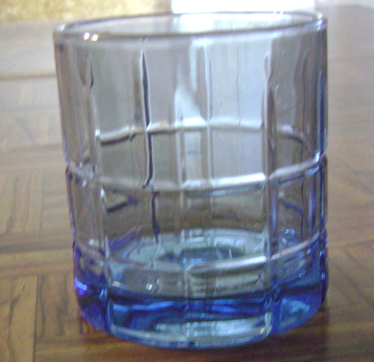 "Primary image for Anchor Hocking Tartan Blueberry Old Fashioned Rocks Tumbler 3 1/2"" tall EXC"