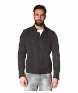 Diesel Jeffir-R Men's Black Lightweight Windbreaker Moto Biker Jacket Co... - $109.99