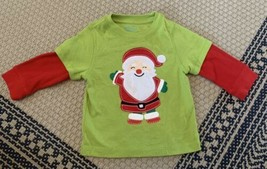 Baby Boy Santa Claus Long Sleeve Shirt Size 12 Months - $8.59
