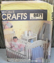 Baby Room Sewing Pattern Quilt Bumper Toy Bag Bib McCall's 8871* - $14.00