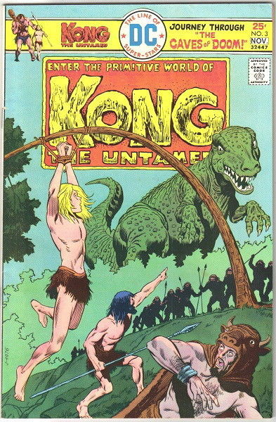 Kong The Untamed Comic Book #3 DC Comics 1975 FINE+