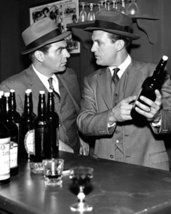 Robert Stack And Paul Picerni In The Untouchables In Bar Holding Booze Bottles 1 - $69.99
