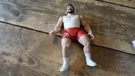 Vintage 1998 Jakks Wrestling Action Figure Red Shorts - $9.89