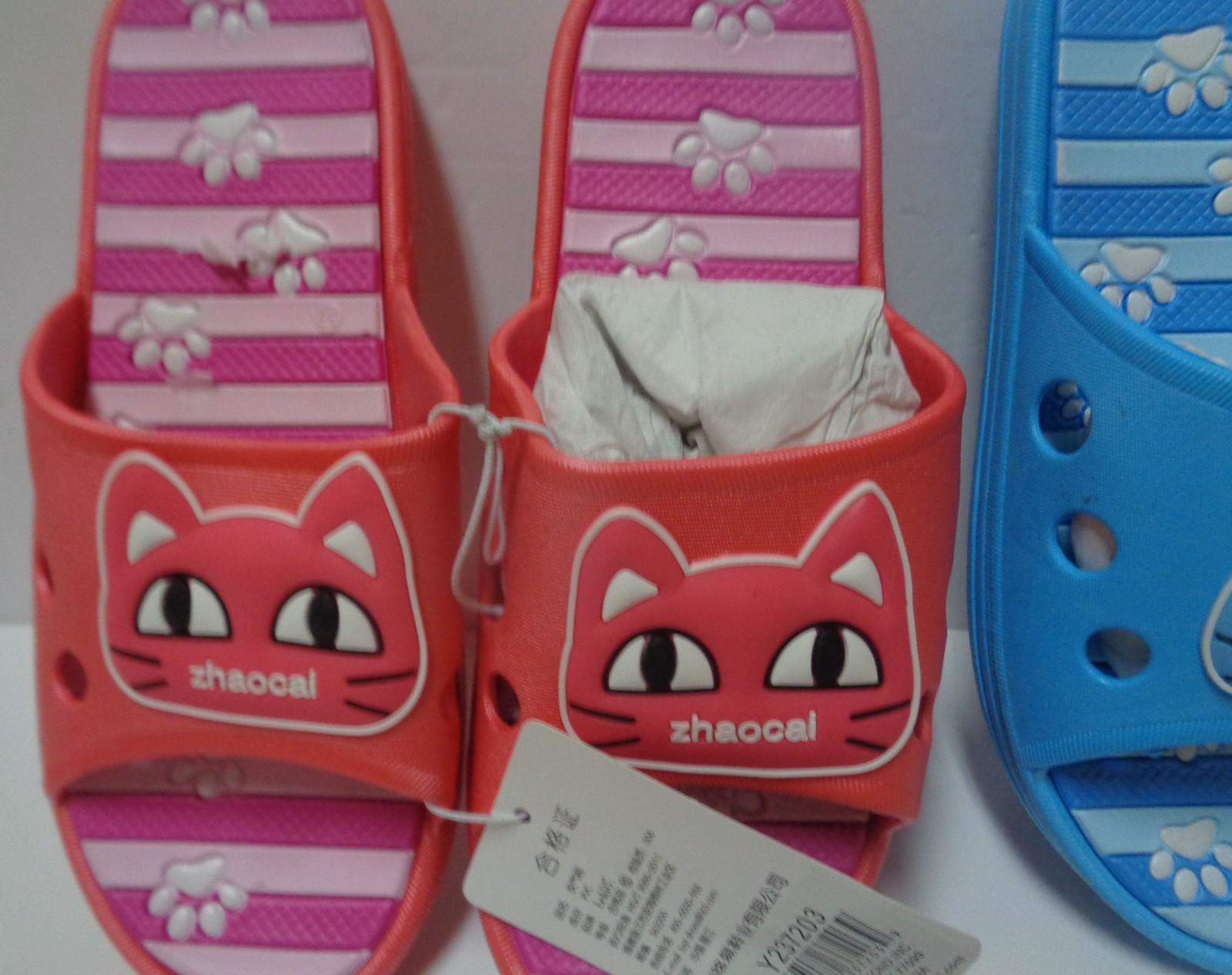 Women's Kitty Cat Sandals Slip On NWT Sz 7 Pink