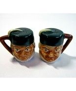 Vintage MK Japan Toby Jug Style Salt & Pepper Shakers- Old Men Wearing Fez Hats - $12.99