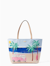 Kate Spade California Dreaming Hallie Beach Scene Tote Bag Van/Surf PXRU... - ₨21,817.37 INR