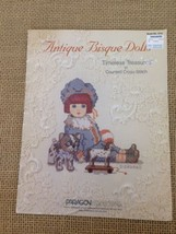 Paragon Needlecraft Antique Bisque Dolls Cross Stitch Book No 5112 - $18.81