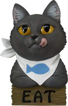 """World of Wonders Black Kitty cat """"EAT"""" Wall Sculpture Sign Home Decor 10"""" - $19.95"""