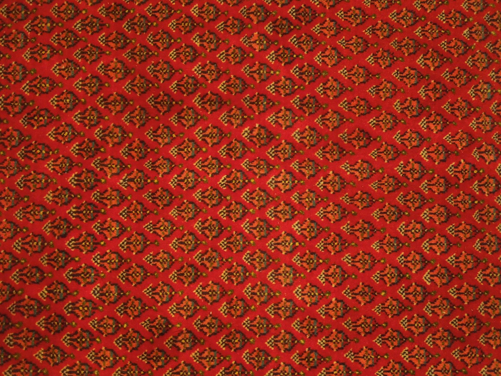 Vivid Boteh Flamed All-Over Persian Hand-Knotted 7x10 Red Mir Wool Area Rug image 6