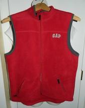Gap Kids Xxl Red With Gray Trim Fleece Vest - $19.79