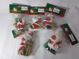5 Kurt S. Adler SANTA Christmas Ornaments - $15.83