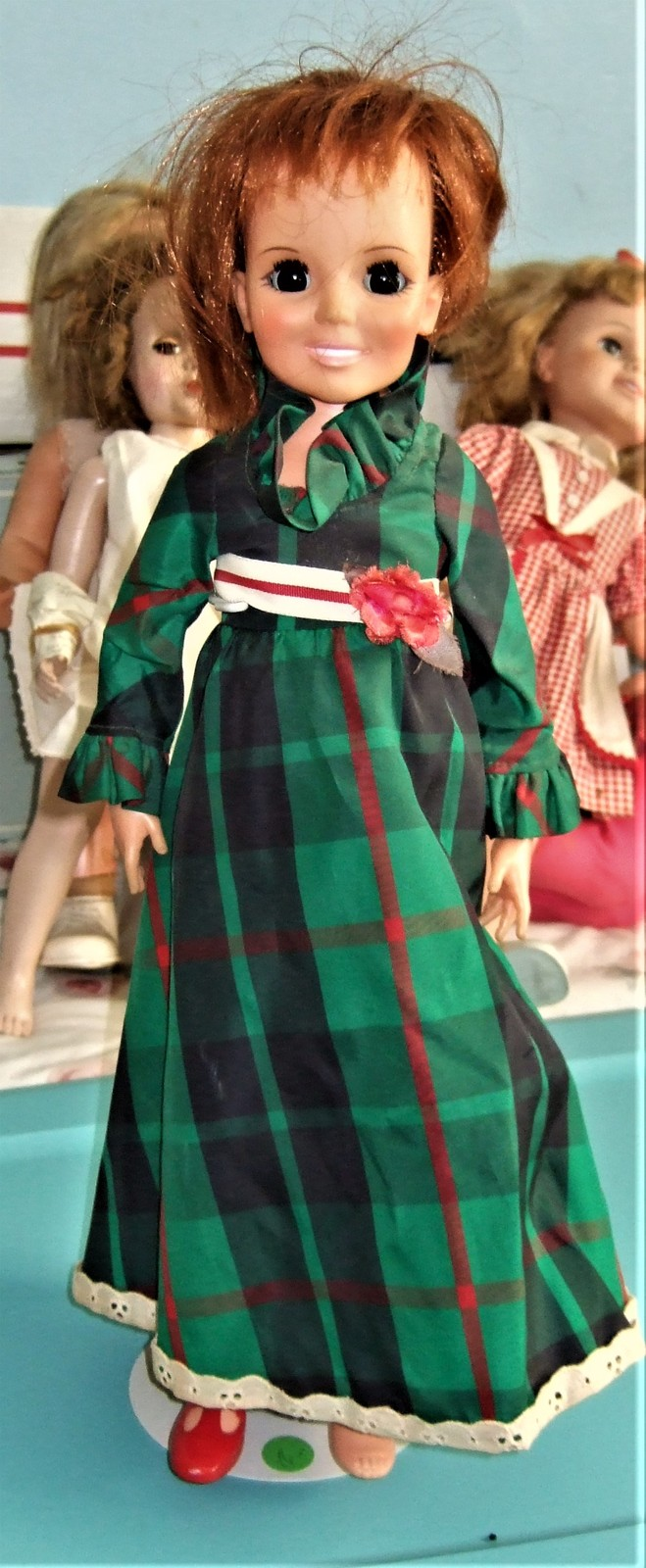 "Primary image for Crissy Doll - (Ideal Toys 1970) 18"" Doll Red Hair Growing Hair Plaid Dress"