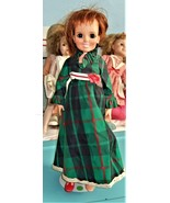 "Crissy Doll - (Ideal Toys 1970) 18"" Doll Red Hair Growing Hair Plaid Dress  - $29.95"