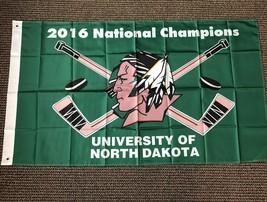 North Dakota 2016 Hockey National Champions New Flag 3' x '5 Metal Grommets - $25.73