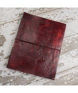 World Map Oversized Large Handmade Leather Journal - $78.00