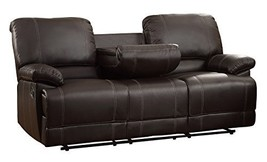 Homelegance Faux Leather Double Reclining Sofa, Brown - $1,379.19