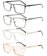 Eyekepper 4-Pack Mens Reading Glasses Spring Hinges Included Tinted Lens... - $54.21
