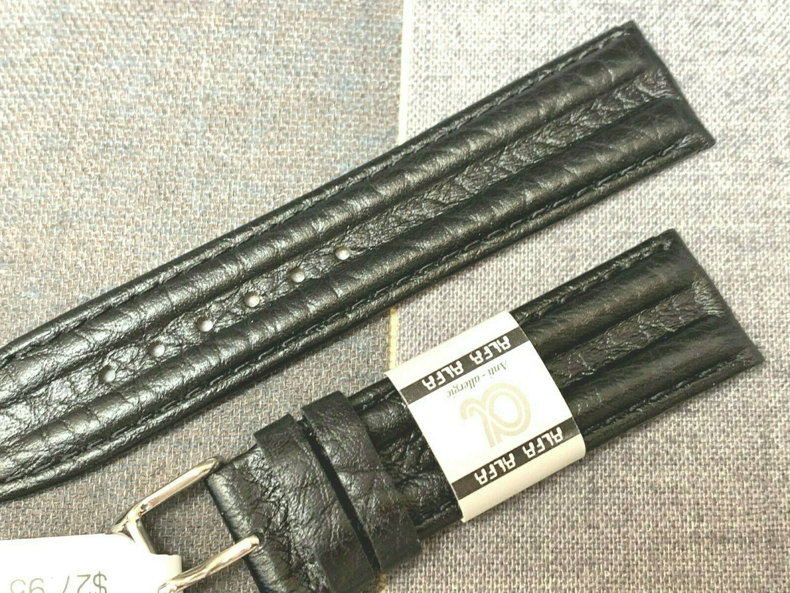 EURO ALFA WATCH BAND GENUINE LEATHER FOR KENNETH COLE DOUBLE HUMP 18MM