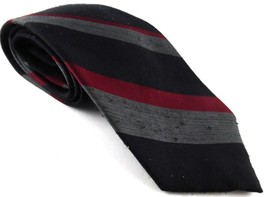 Wembley Wemlon Wash N' Wear Tie Necktie Black Grey Gray Red Striped VTG  - €8,07 EUR