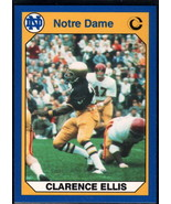 1990 Collegiate Collection Notre Dame #26 Clarence Ellis NM Near Mint - $0.75