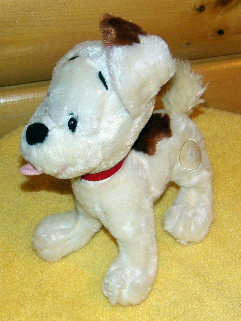 "Winnie Pooh Disney Store Logo Darby Puppy Dog White Plush 10"" BUSTER image 2"