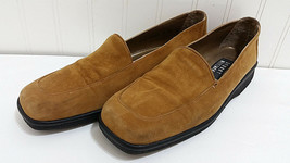 STUART WEITZMAN Suede Loafers Ladies Sz 8 AA Slip On Tan / Medium Brown ... - $43.05
