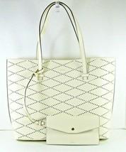 DKNY Donna Karan NWT $248 Tote Shoulder Marley Ivory Diamond Perforated ... - $110.87