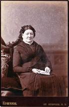Mrs. Burnham (Mother of Lydia) Cabinet Photo - St. Stephen, New Brunswick - $17.50