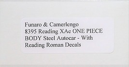 Funaro F&C HO READING XAe Steel Autocar w/ Reading Roman decals Kit 8395 image 3