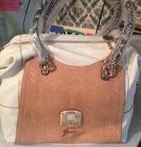 Guess Azadeh Large Satchel  handbag  coin purse bag Chalk  Multi NWT - $56.88