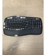 Used Logitech K350 Wireless Wave Keyboard Black No Dongle, Keys don't sh... - $15.00