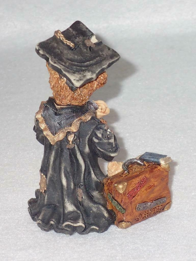 Boyd Bearstone Resin Bears Edmund The Graduate Carpe Diem Figurine 6E #227701-07 image 2