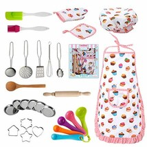 Nearbyme Kids Cooking and Baking Chef Set - 28 Pcs Includes Apron, Chef ... - $38.62