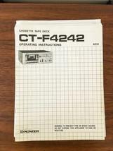 Pioneer CT-F4242 Cassette Owners Manual *Original* - $13.98