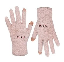 RARITY-US Women Touchscreen Plush Gloves Winter Soft Knitted Warm Gloves... - $13.07