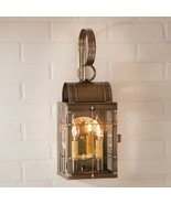 Double light Outdoor Wall Lantern in Weathered Brass - $228.95