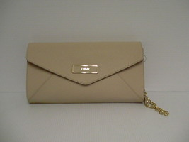 DKNY shoulder bag handbag envelope saffiano leather  sand - $98.95