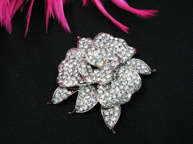 A FLORAL CUTE ALLOY FACNY HANDMADE CRYSTAL COMB BROOCH VEIL ACCESSORIES ATTIRE n