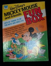 Vtg 1981 Walt Disney's Mickey Mouse Friends Fun Box Game Paper Toy Lot Whitman - $10.93